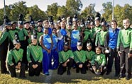 Spring Valley High School band student leader team, Columbia, South Carolina
