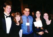 Peter Ferrito with Spring High School students after their performance at the Midwest Band and Orchestra Convention, Chicago, Illinois